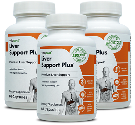 Image of 3 bottles of VitaPost Liver Support Plus