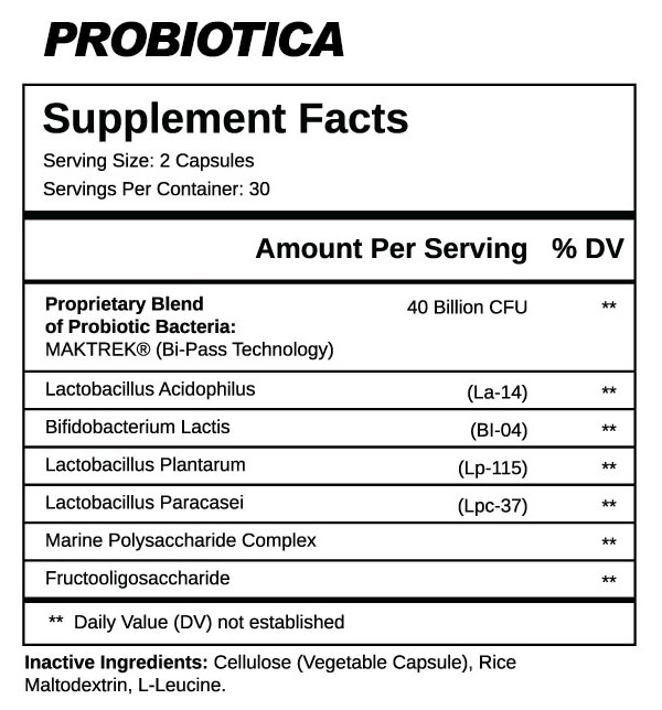 Probiotica Supplement Facts supplement-facts