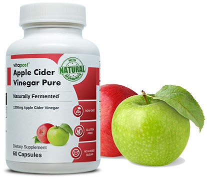 Finely printed bottle of Apple Cider Vinegar Pure