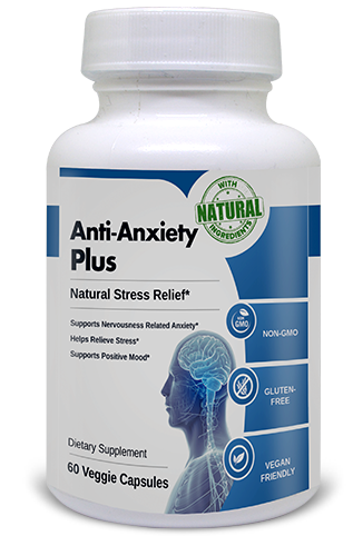 Dietary supplement Anti Anxiety Plus helps to reduce stress