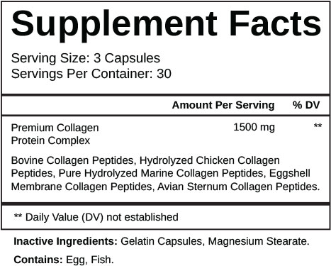 Collagen Complex Supplement Facts