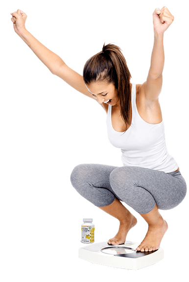 Slim lady enjoying weigh loss after consuming diet Garcinia Cambogia Plus