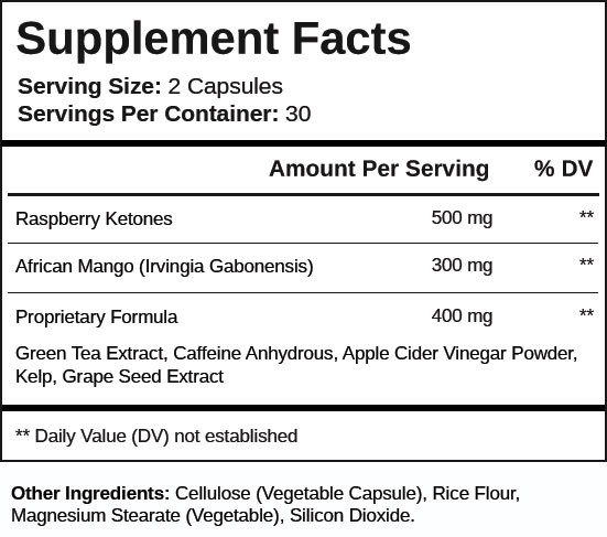 Keto Diet Shop supplement-facts