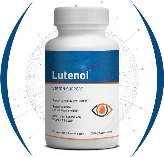 Sharp image of Lutenol 505mg bottle for vision support