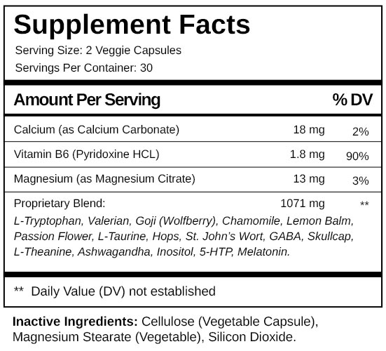 Sleep Support Plus supplement-facts