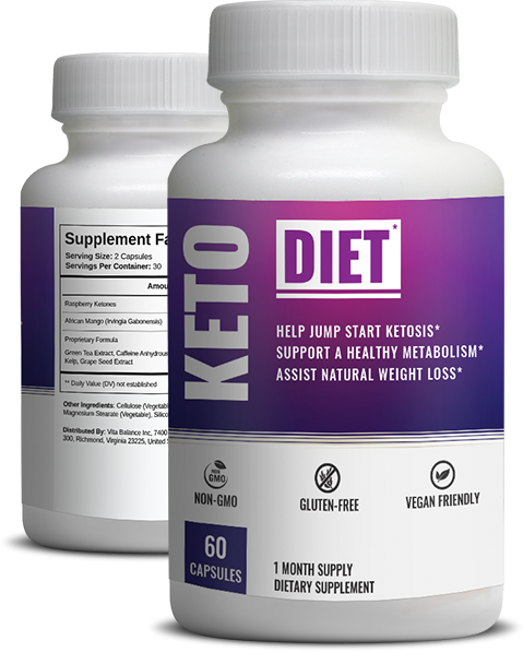 Keto Diet Shop Bottle with Supplement Facts