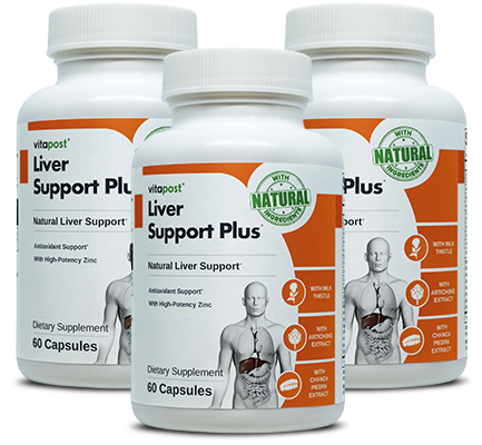 Image of 3 bottles of LiverSupportCare.com, a Natural Liver Care