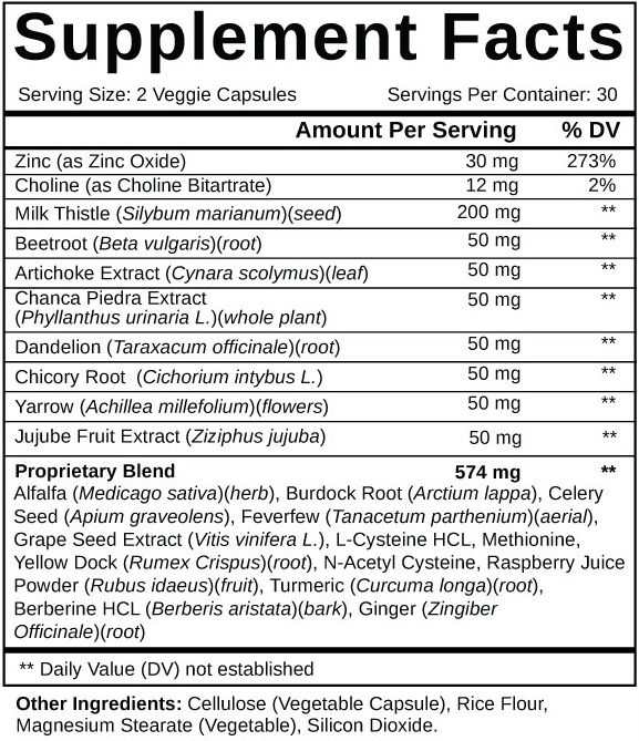 Supplements Facts and List of Ingredients of LiverSupportPlus.com
