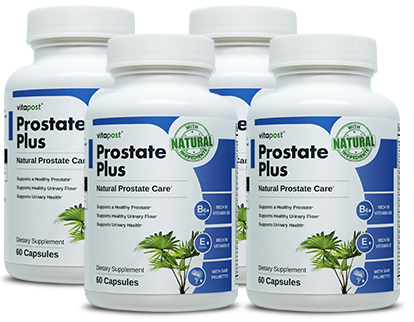 Bottles of Prostate Plus a brand from VitaBalance