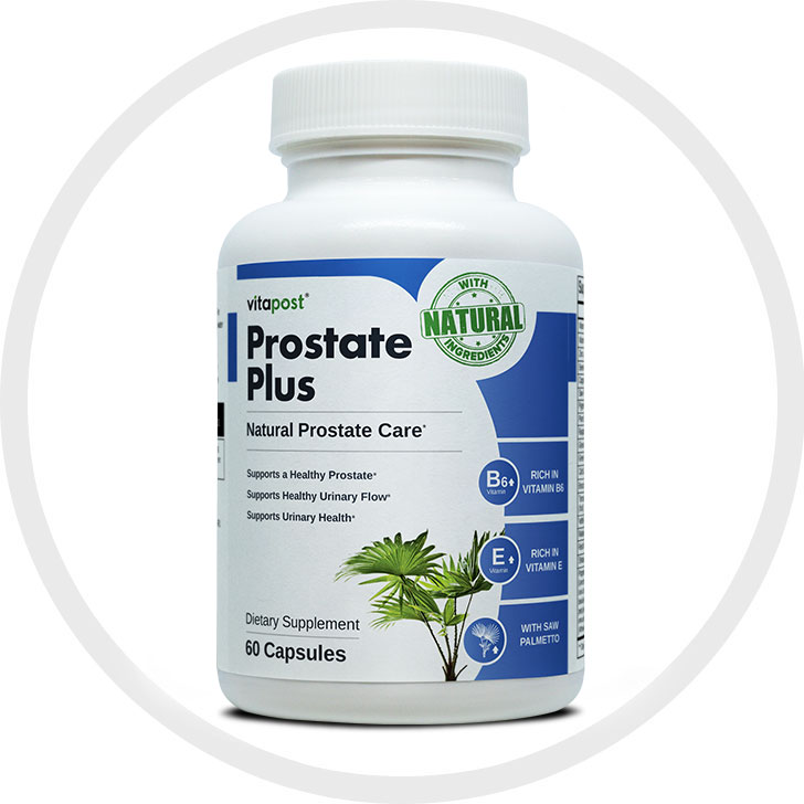 Large image of Prostate Plus bottle displaying all vital information
