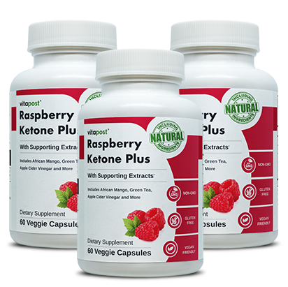 3 bottles of Raspberry Ketone Plus
