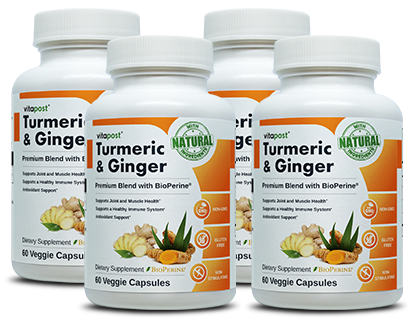 Turmeric and Ginger Superfood Bottles